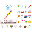 set of 24 party icons vector image