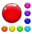 Set of big multicolored glass buttons vector image vector image