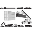 Set of Loading Trucks and other Transport Icons vector image vector image