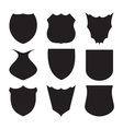 shield silhouette vector image vector image