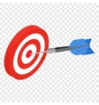 Target isometric 3d icon vector image vector image