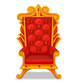 Throne made of gold vector image vector image