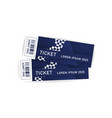 ticket for olympic sport event design template vector image vector image