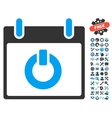 Turn On Calendar Day Icon With Bonus vector image vector image