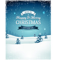 vintage christmas landscape background vector image vector image