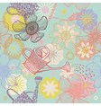 pastel collage patterns vector image