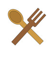 isolated spoon and knife design vector image