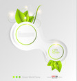 Green leaves ecology background vector image