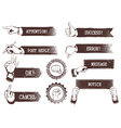 vintage weathered banners vector image