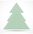 abstract christmas tree of colorful lines vector image vector image