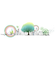 Abstract Green Cityscape vector image vector image