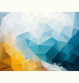 abstract irregular polygon background blue yellow vector image vector image