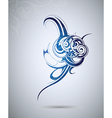Abstract tribal tattoo design vector image vector image