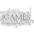 adults love strategy games text word cloud concept vector image vector image