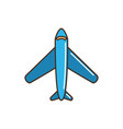 airplane transport line and fill vector image
