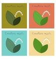 assembly flat nature plant vector image vector image