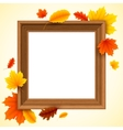 Autumn Picture Frame vector image vector image