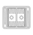 Backgammon icon in outline style isolated on white vector image vector image