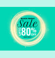 beautiful glowing lights black friday sale banner vector image vector image