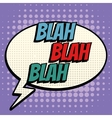 Blah comic book bubble text retro style vector image vector image