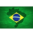 Brazil map An old grunge flag of Brazil state vector image vector image