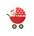child buggy or bastroller pram icon with vector image vector image