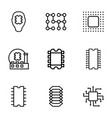 circuit icons vector image vector image