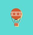 circus watercolor hot air balloon in sticker style vector image vector image