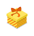 closed gift box isometric 3d icon vector image vector image