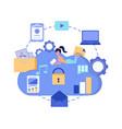 cloud storage data security concept cloud vector image