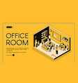 co-working center office isometric website vector image vector image