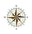 compass wind rose hand drawn design element vector image vector image