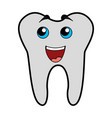 cute tooth cartoon vector image vector image