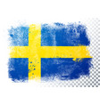 distressed grunge flag sweden vector image vector image