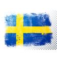 distressed grunge flag sweden vector image vector image