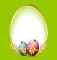 easter eggs decoration vector image vector image