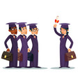 education graduate scroll students afroamerican vector image vector image