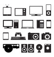 electronic technology icon set vector image