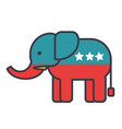 elephant usa republican party flat line vector image vector image