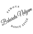 Famous dance style Baharata Natyam stamp vector image vector image
