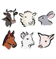 Farm animals icons vector | Price: 1 Credit (USD $1)