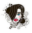 female beautiful face on white background art on vector image vector image