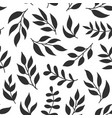 floral seamless pattern with fern different vector image vector image