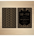 Gatsby Wedding Invitations vector image vector image