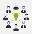 group of business people gather together process vector image vector image