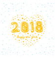 happy new year 2018 card design on white vector image