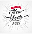 happy new year 2021 lettering vector image