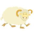 happy ram farm animal character vector image vector image