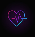 heartbeat colorful icon - heart beat vector image