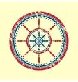Helm symbol grunge vector image vector image